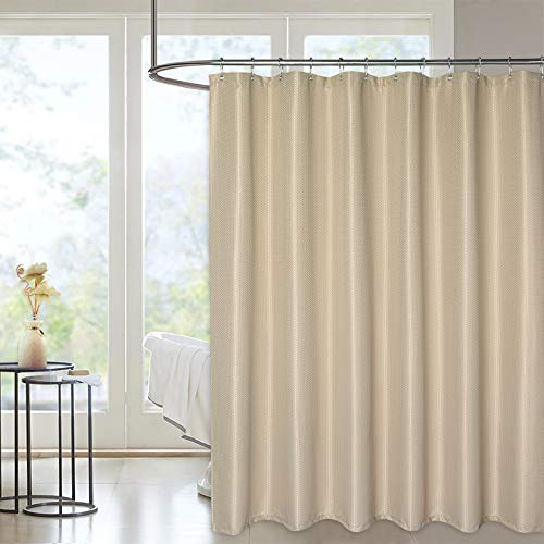 Haperlare Extra Long Waffle Shower Curtain with 84 Inches Length, Heavy Duty Fabric Shower Curtains with Waffle Weave Hotel Quality Bathroom Shower Curtains, 72