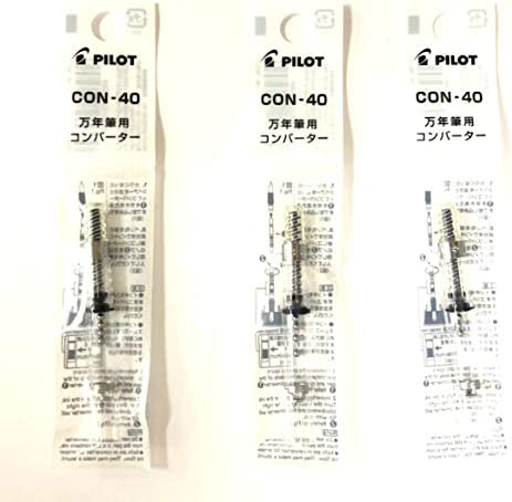 Pilot Fountain Pen Ink Converter CON 40 Screw Type Value Set of 3 product image