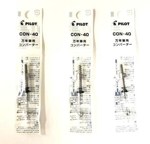 Pilot Fountain Pen Ink Converter (CON-40), Screw Type, Value Set of 3