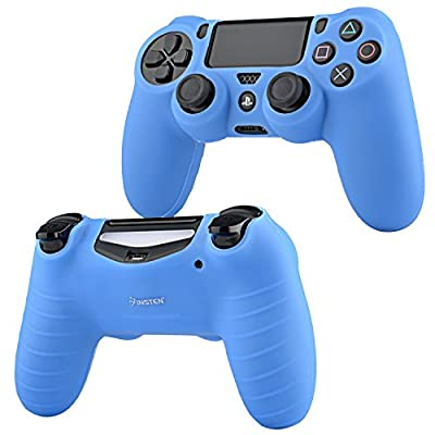 For PS4 Controller Silicone Skin Case Cover, Insten Silicone Controller Skin Case Compatible With Sony PlayStation 4 PS4 Controller, Blue