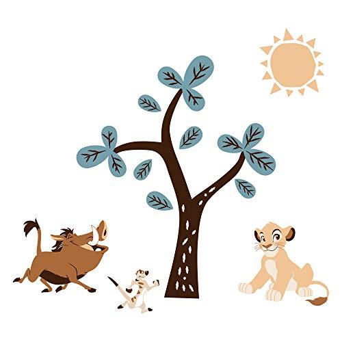 Lambs & Ivy Stickers muraux Disney Roi Lion Arbre avec Simba/Timon/Pumbaa