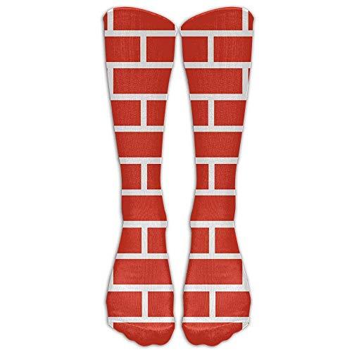 LAKILAN Freizeitsocken,Röhrensocken Red Brick Wall Socken