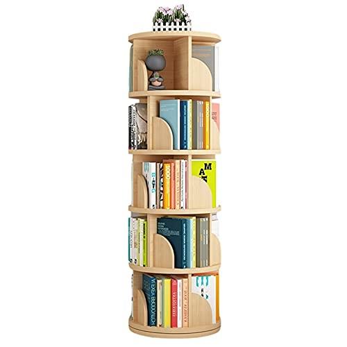 Librería giratoria creativa 360° estantes desmontables simple ángulo Estudiante simple para estudio salón oficina casa (color: amarillo, dimensiones: 40 x 160 cm) Util