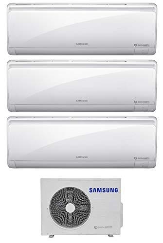 Samsung, Serie Maldives - Climatizzatore 9000+9000+12000 Btu, Trial Split Inverter, Classe A+++/A+, Gas, R32