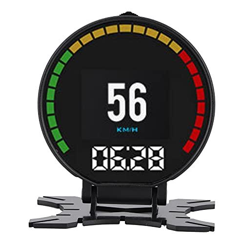 01 Medidor De Pantalla HUD, Head Up Display, Instrumento Multifuncional, Resistente Al Desgaste para El Automóvil Duradero para La Mayoría De Los Vehículos Que Cumplen con Negro