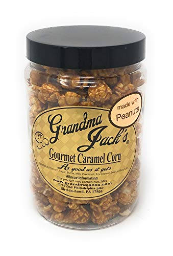 Big Save! Grandma Jack's Gourmet Caramel Popcorn with Peanuts, 32 oz Jar