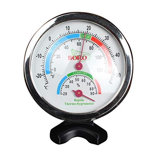 Morningtime thermo-hygrometer, reptiel, binnen met nachtlampje, thermo-hygrometer, analoog, hoge nauwkeurigheid voor indoor broeikas, om op te hangen of neer te zetten
