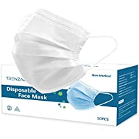 50-Pack Trenzado 3 Layers Disposable Face Masks