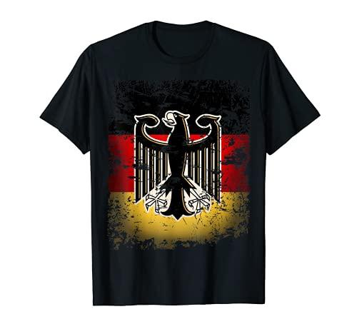 Deutschland Flagge Fahne Adler Wappen Damen Herren T-Shirt