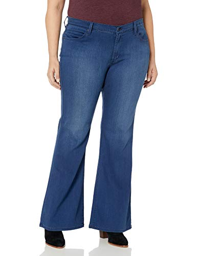 James Jeans Women's Plus Size Juliette Curvy Flare Leg Jean in Retro, 18W