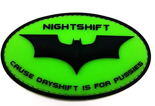 Polizeimemesshop Nightshift Fluor PVC Patch