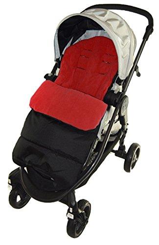 Saco/Cosy Toes Compatible con venicci Vento carrito, color rojo