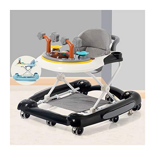CJW-LC Andador con Almohadillas para Los Pies, Andadores para Bebé De Altura Ajustable, Andador para Bebé Plegable Antivuelco con 8 Ruedas Silenciosas, para Niñas Niños De 6 A 18 Meses,C