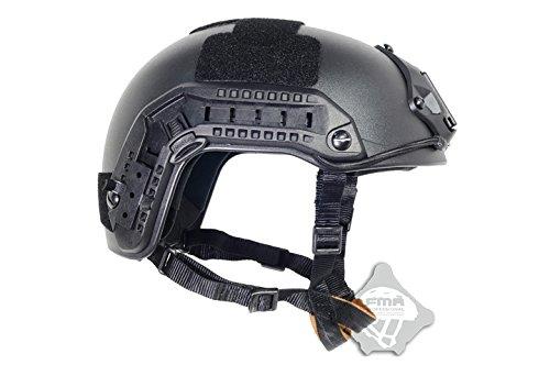 FMA Airsoft Ops Core Black SWAT Tactical Maritime ABS Helmet Jump Rail L/XL