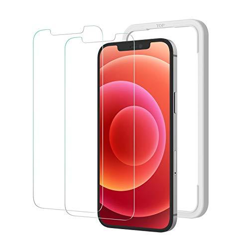 NIMASO ガラスフィルム iPhone 12 mini 用 強化 ガラス 保護 フィルム 2枚セット ガイド枠付き