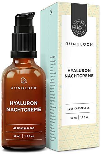 junglück - Crema de noche con ácido hialurónico, aceite de argán y...