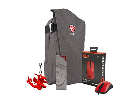 MSI Gaming Xmas Pack 2016 or GS Air-Rucksack, Super Genius Gaming Mouse III Dragon Edition, I-Key Verschlüsselungs-Stick und
