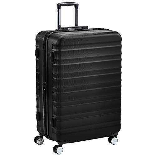 AmazonBasics Premium Hardside Spinner Suitcase Luggage with Wheels - 28-Inch, Black