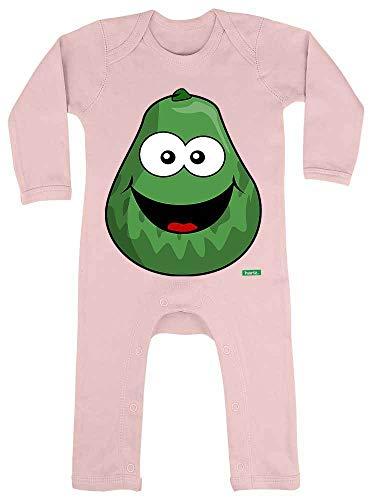 HARIZ - Tutina per neonato Avocado ride alla frutta, con bigliettini regalo in zucchero filato rosa, 12-18 mesi