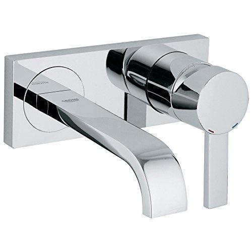Allure - Grifo de baño pequeño con montaje en pared de 2 agujeros, Cromado Starlight, 1.2 GPM