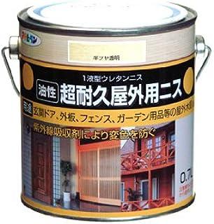 アサヒペン 超耐久屋外用ニス 0.7L 半ツヤ透明