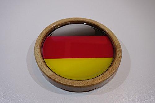 RONIC Design Untersetzer für Gläser, Buche lackiert, mit Motiv unter Kunstharz, Deutschland