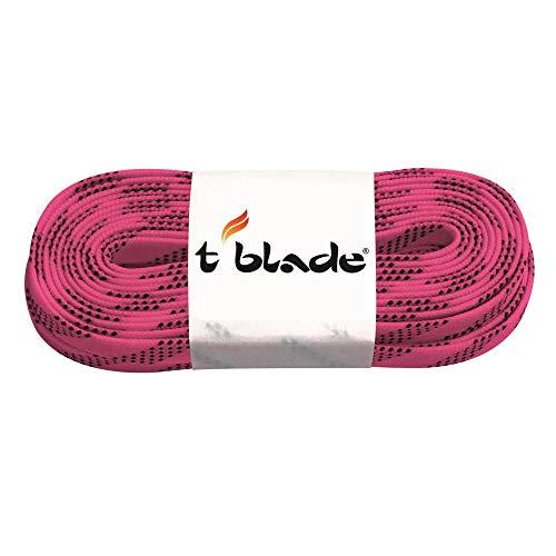 t-blade Schnürsenkel für Schlittschuhe gewachst rosa Länge 108