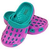 Aqua Speed Zapatillas de baño Silvi para niños y Adolescentes, Color:Púrpura/Azul, Talla de Zapatos de baño:29