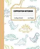 Dinosaur Composition Notebook College Ruled: Cute Dinosaur Composition Notebook College Ruled, Dinosaur Composition Book, 7.5x9.25 College Ruled Pages 16