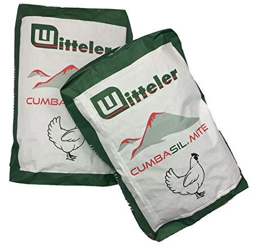 Cumbasil Mite Staubbad für Hühner 25kg Sack I Natürlicher Milbenschutz I Milbenmittel I Rote Vogelmilbe I Bio-Zulassung