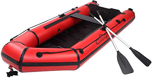 QILLIINN Kayak Inflatable Sport Kayak?10ft PVC 330kg Water Adult Assault Boat?Foldable Dinghy Float for Boating Fishing Hunting or Playing on Lakes Rivers and White Water Rapids?Kayak Red and Black.