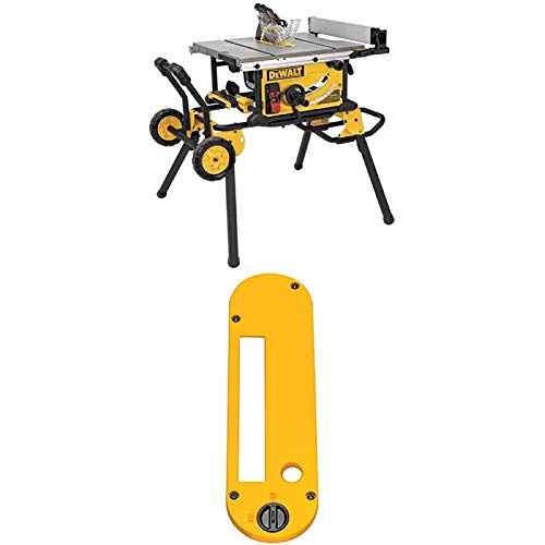 DEWALT DWE7491RS 10-Inch Jobsite Table Saw with 32-1/2-Inch Rip Capacity and Rolling Stand w/...
