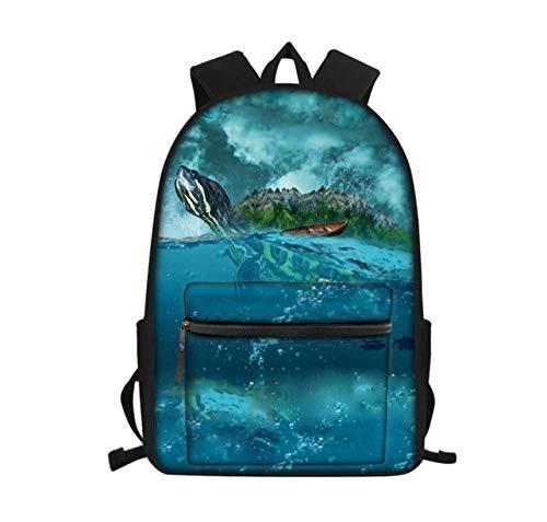 Laptop Rucksack Teen Boy Schultasche Mädchen Kind Tasche Schildkröte Schildkröte Mädchen Rucksack kann Kindertasche ziehen