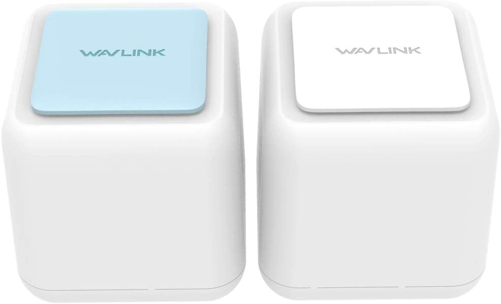 WAVLINK Mesh WiFi Systems Whole Home Dual Band AC1200 with MU-MIMO - Wi-Fi Router Extender Seamless Roaming Wireless Coverage up to 3,000 sq. ft. - White WN535K2, 2-Pack (1 router +1 satellite)