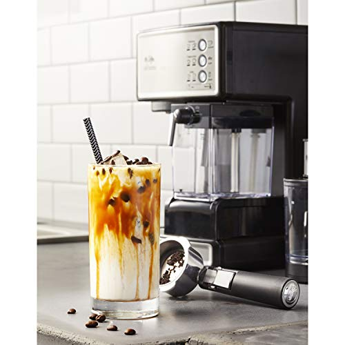 making coffee with the Mr. Coffee Espresso and Cappuccino Maker