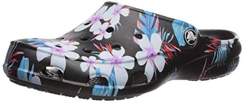 Crocs Freesail Seasonal Clog Women, Zoccoli Donna, Multicolore (Tropical Floral/Black 98f), 34/35 EU