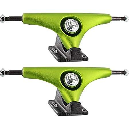 "Gullwing Trucks 9.0"" Charger Lime/Black Skateboard Reverse Kingpin Trucks - 6.25"" Hanger 9.0"" Axle (Set of 2)"