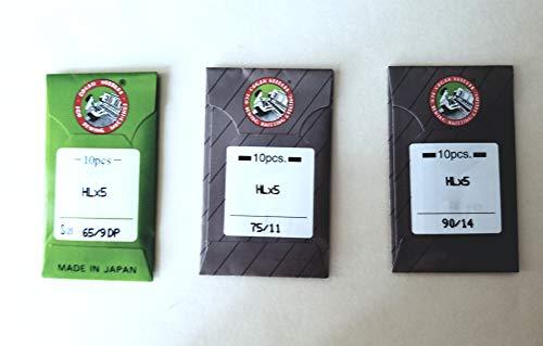 Oragn Nadeln HLX5 für Quiltmaschinen Juki TL2000QI, TL2010Q, TL98 Serie, Janome 1600P und Janome 1600P-QC Größe 9 11 und 14