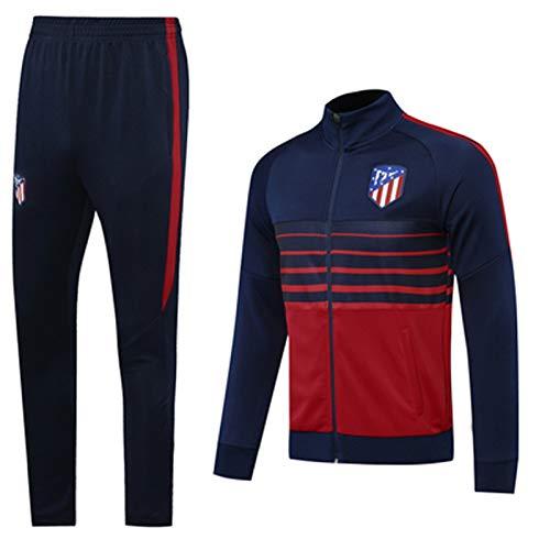 Camiseta de fútbol Atlětico Mǎdrid 2021 cuello alto manga larga chándal de entrenamiento ropa deportiva profesional equipo uniforme de fútbol conjunto de camisetas de manga larga, Komfortable