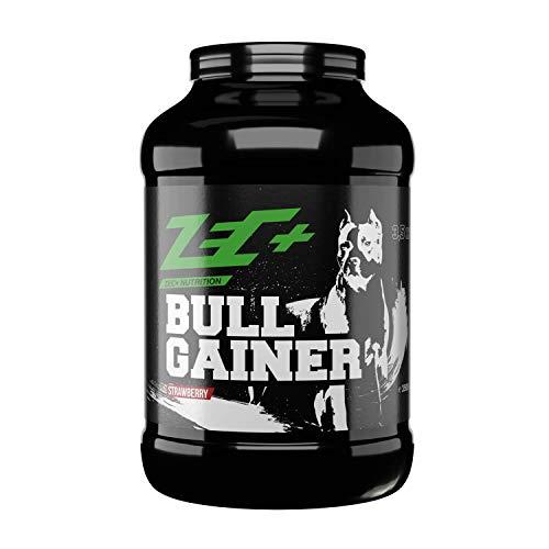 Zec+ Bullgainer - Erdbeere 3500 g, Protein-Pulver mit Vitaminen, Aminosäuren und Kohlenhydrathen zum Masseaufbau, Made in Germany