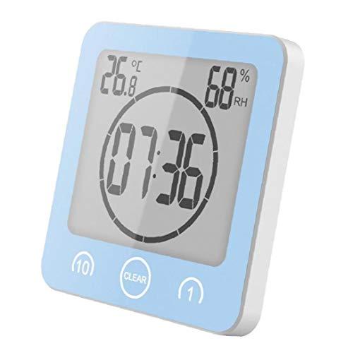 PiniceCore Großer LCD-digital-Schirm LCD-digital-wasserdichtes Wasser-Spritzer Badezimmer Wanduhr Dusche Uhren-Timer-temperatur