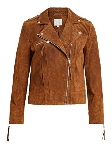 Vila Female Lederjacke Wildleder SOak Brown