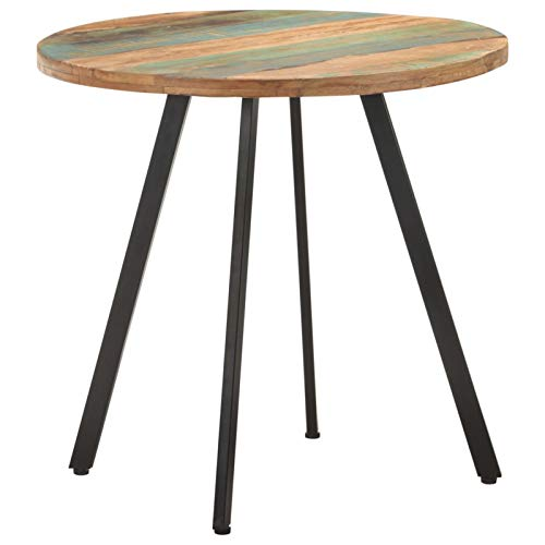 Tidyard Dining Table 80 cm Solid Reclaimed Wood