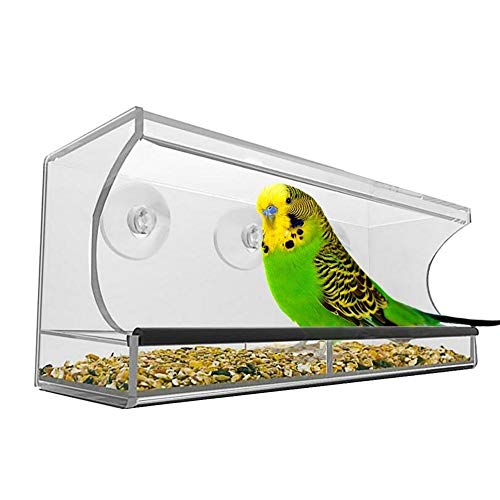 ffshop Birdhouse Feeder Made Neue Ankunft Große Größe Outdoor Automatische Vogel Wasser Lebensmittel Feeder Kreative Haustier Vogel Food Box Vogelfütter Window Bird Feeder