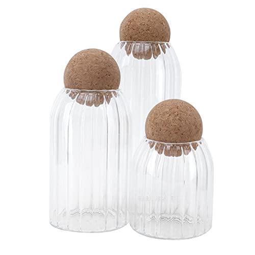 Recipiente de vidrio, a prueba de polvo Resistencia a alta temperatura Frasco hermético a prueba de humedad para frutas secas para Té de soja sellado para condimentos