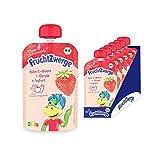 FruchtZwerge Bio Quetschbeutel Apfel-Erdbeere + Gerste + Joghurt 6er Pack, 540 g