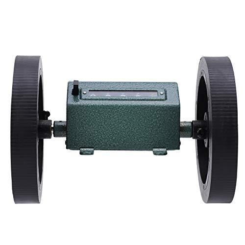 con mecanismo de puesta a cero, contador de metros rodantes, 0-9999,9, acero inoxidable + caucho, Z96-F, contador de metros tipo rollo, para medir textiles para(Code counter)