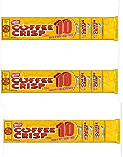 COFFEE CRISP Minis, 345g (3 Packs of 10 Mini Chocolate Bars)