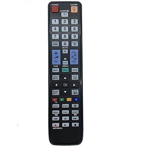 ALLIMITY AA59-00431A Ersetzen die Fernbedienung für Samsung TV UE37D6510WK UE40D6530WK UE40D6510WK UE46D6530WK UE46D6510WK UE55D6530WK ue32d6505 UE32D6510 UE32D6540 UE32D6530 UE32D6570 UE37D6510