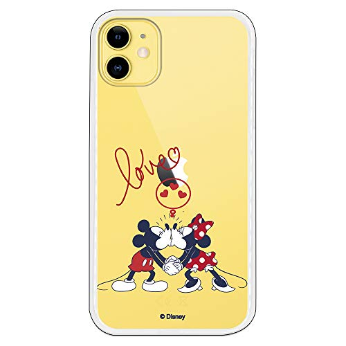 Funda para iPhone 11 Oficial de Clásicos Disney Mickey y Minnie Love...